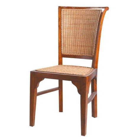chaise rotin maison du monde chaise en rotin et teck massif sofia maisons du monde