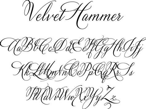 fancy letter fonts velvet hammer is a classical calligraphy font designed by 52186
