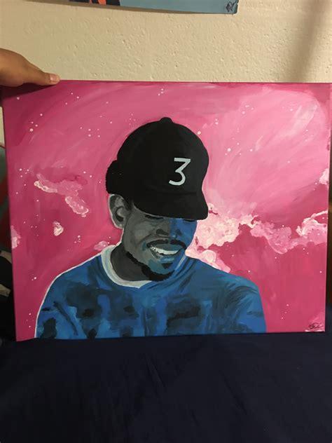 chance  rapper coloring book mixtape cover brooklynnsamonee foundmyself