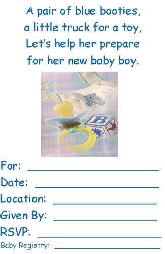 free printable baby shower invitations templates for boys boy baby shower invites template best template collection