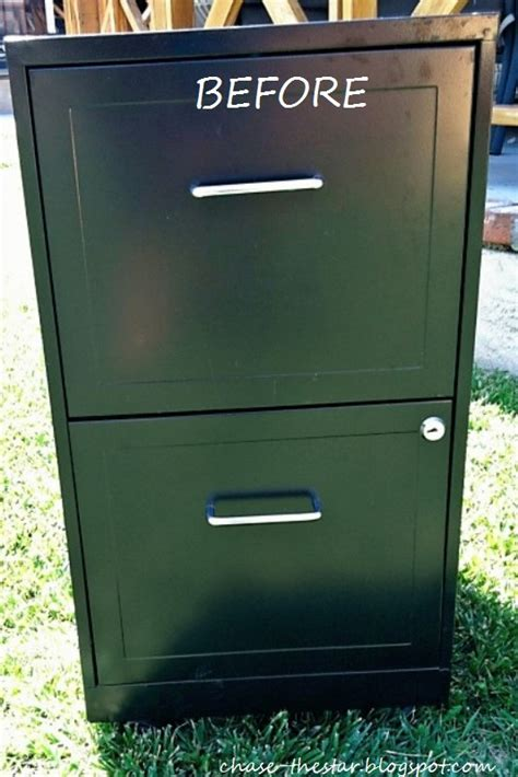 how to dress up a metal file cabinet file cabinet makeover