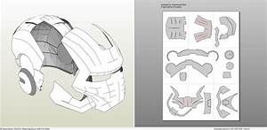 papercraft pdo file template for iron man mark 2 full With iron man foam armor templates