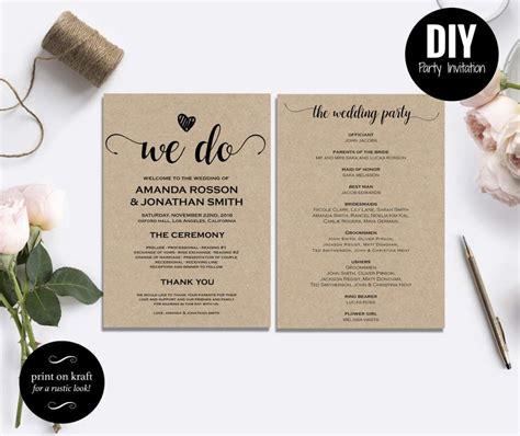 free diy rustic wedding invitations templates card