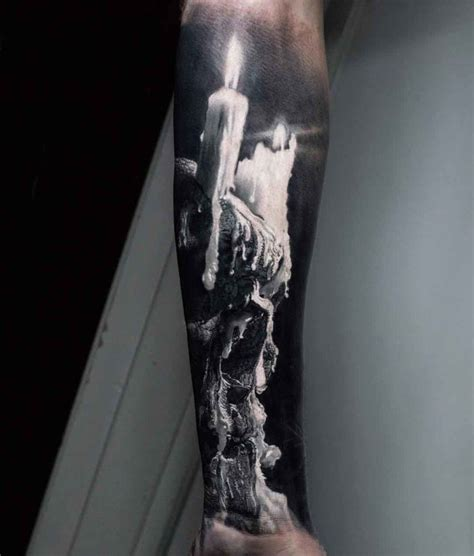 candle skull tattoo  arm  tattoo ideas gallery