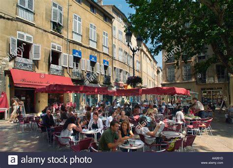 cuisine aix en provence restaurant in the town aix en provence stock