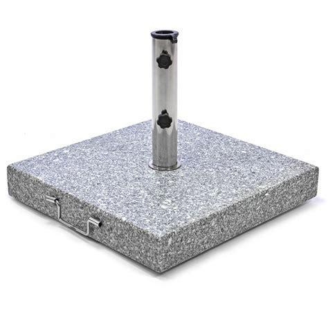 sonnenschirmständer 50 kg sonnenschirmst 228 nder 50 kg granit grau eckig edelstahl 50 x