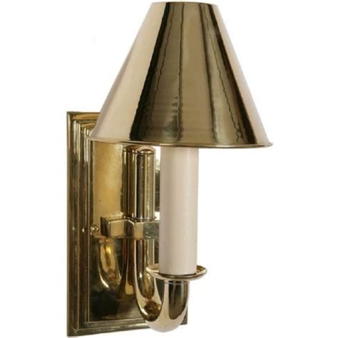 gold polished brass period candle style wall light with