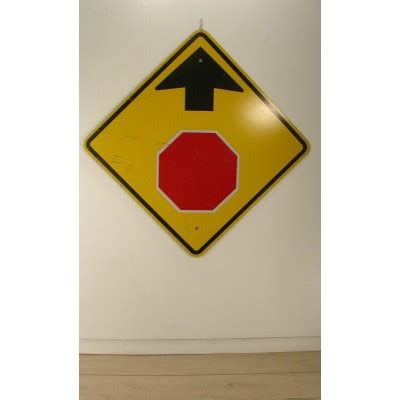 wall art colorful large vintage stop  road sign red