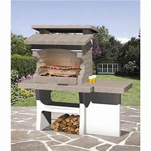 barbecue fixe barbecue beton barbecue en pierre leroy With ordinary maison brique et bois 15 comment fabriquer un fumoir pas cher