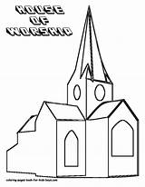 Church Coloring Pages Drawing Outline Children Printable Popular Adults Getdrawings Coloringhome Books sketch template