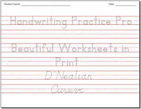 Handwriting Worksheets Maker Beautiful Handwriting Practice Worksheets