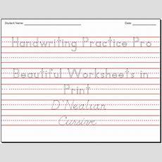 Make Beautiful Handwriting Practice Worksheets