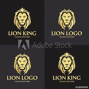 Lion king logo design template. Lion head logo. Vector ...