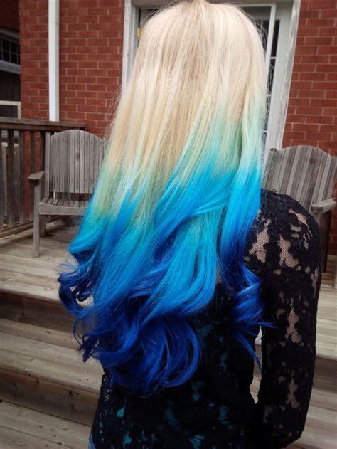 Platinum Blonde To Blue Ombre Hair Colors Ideas