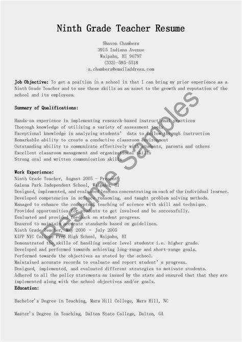 Grad Resume by Resume Sles Ninth Grade Resume Sle