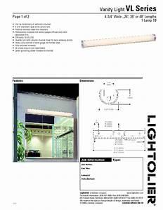 Vanity Light Vl Series Manuals