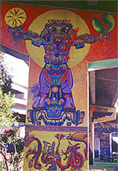 Chicano Park Murals Meanings by Chicano Park Murals Coatlicue Mural