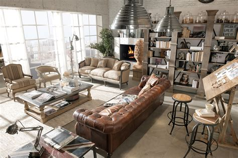 shabby chic industrial decor arredamento country vintage industrial loft shabby chic dialma brown furniture