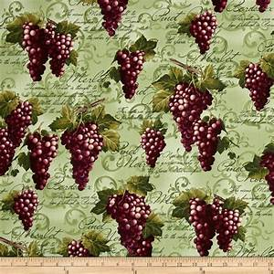 Kanvas Wine Connoisseur Print with Grape Green - Discount