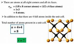 How Many Number Of Carbon Atoms Are There In A Unit Cell
