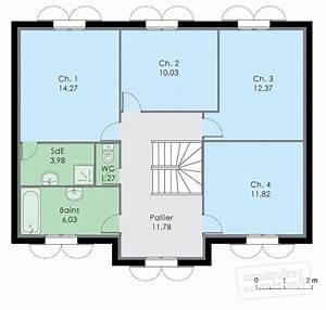 maison familiale 8 detail du plan de maison familiale 8 With attractive plan maison en l 100m2 0 maison familale detail du plan de maison familale