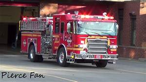Engine 28 Responding Seattle Fire Departement  2016 Pierce Enforcer