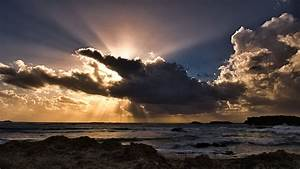 Clouds, Sun, Rays, Passing, Ocean, 5k, Hd, Nature, 4k, Wallpapers, Images, Backgrounds, Photos, And, Pictures