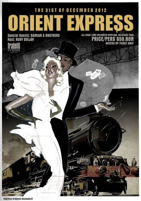 Orient Express Poster ~repinned Via Debbie Rolph Trains