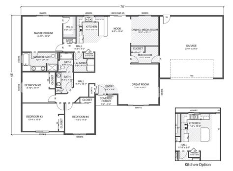 Brick ranch house plans basement plougonver com. House Plans Rambler | Smalltowndjs.com
