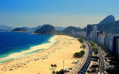 Rio Janeiro Brazil Copacabana Beach Desktop Wallpapers