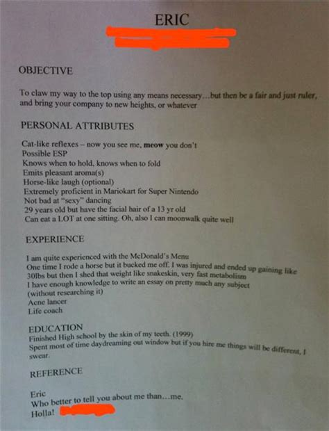 Funniest Resume Blunders by Chocolate Microscope The Creative Resume