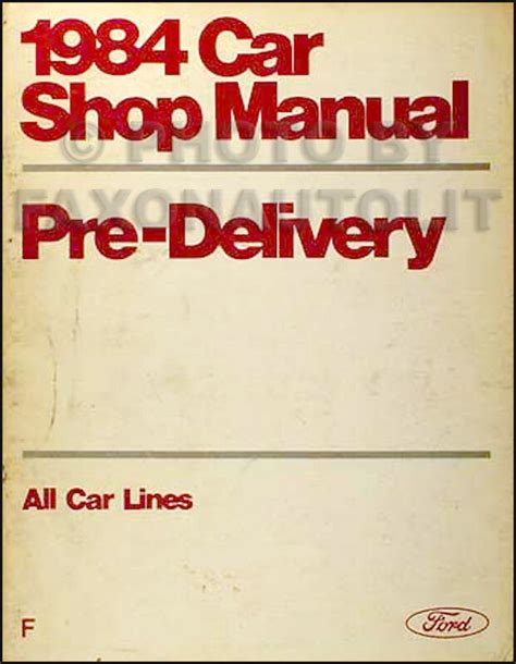 free online auto service manuals 1988 lincoln continental security system 1984 lincoln maintenance and lubrication manual continental town car mark vii ebay