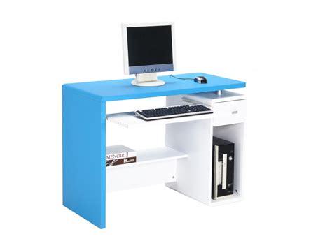 bureau bleu bureau informatique préambule meuble informatique