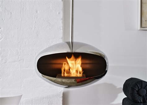 Angled Ceiling by Cocoon Aeris Bio Ethanol Fire Cocoon Fires Bioethanol