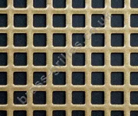 small 6mm squares decorative metal grille antique gold sheet 1000mm x 660mm x 1mm
