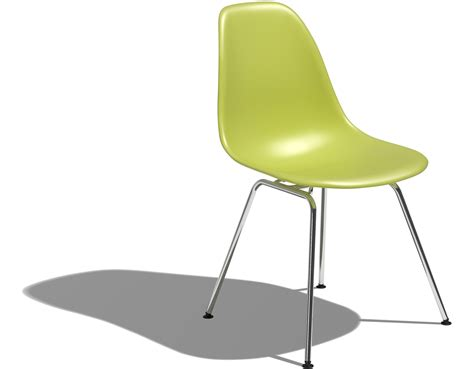 eames 174 molded plastic side chair with 4 leg base
