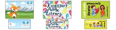 custom childrens library cards unique plastic library cards