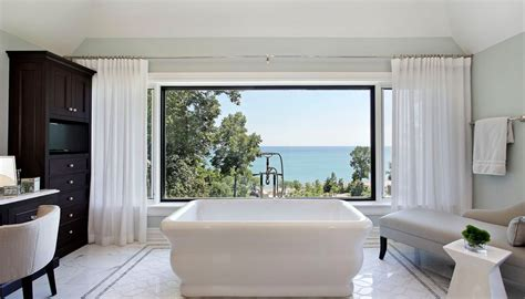 curtains can add privacy for large windows bathroom home