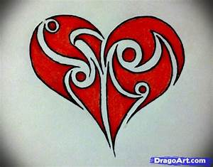 How to draw a tribal heart, Step by Step, Tribal Art, Pop ...