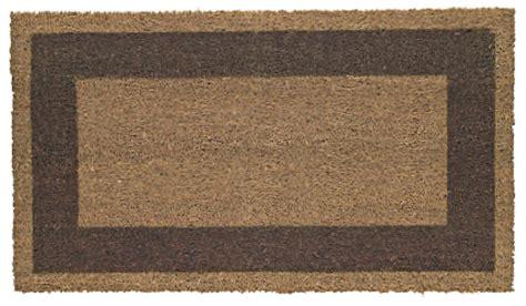 zerbino esterno zerbino cocco 60x100x1 7 cm con bordo in vari colori fondo