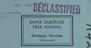 Read The Cia U0026 39 S Simple Sabotage Field Manual  A Timeless