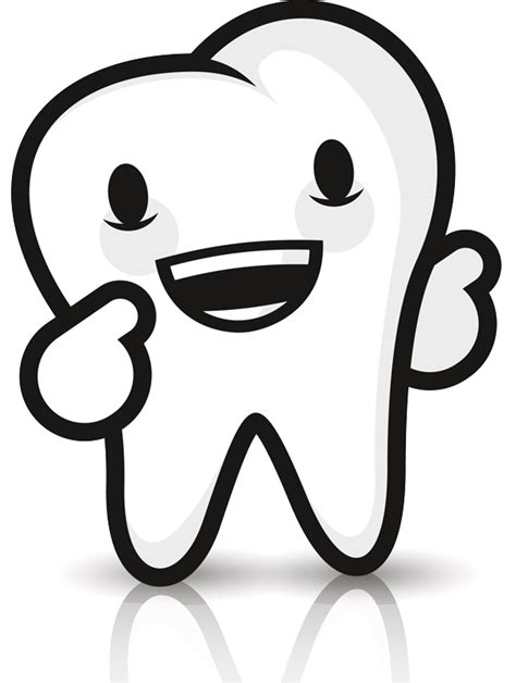 Cartoons Teeth with Transparent Background