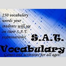 Fun Satact Vocabulary Worksheets  Test Prep Activities And Printables
