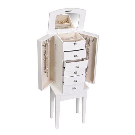 jewelry armoire with lock and key 25 beautiful locking jewelry armoires zen merchandiser