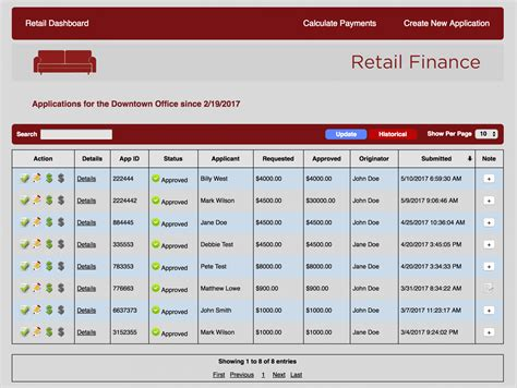 Retail Finance Portal - Literate Programmer