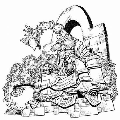 Coloring Labyrinth Adult Jim Henson Comiclist Previews