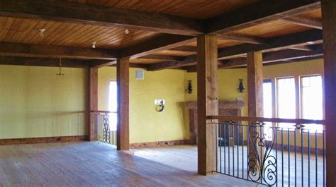 cypress beam  ceiling columns  wrapped  reclaimed