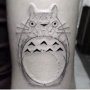 30 Adorable Totoro Tattoo Designs   Amazing Tattoo Ideas  Totoro Thigh Tattoo
