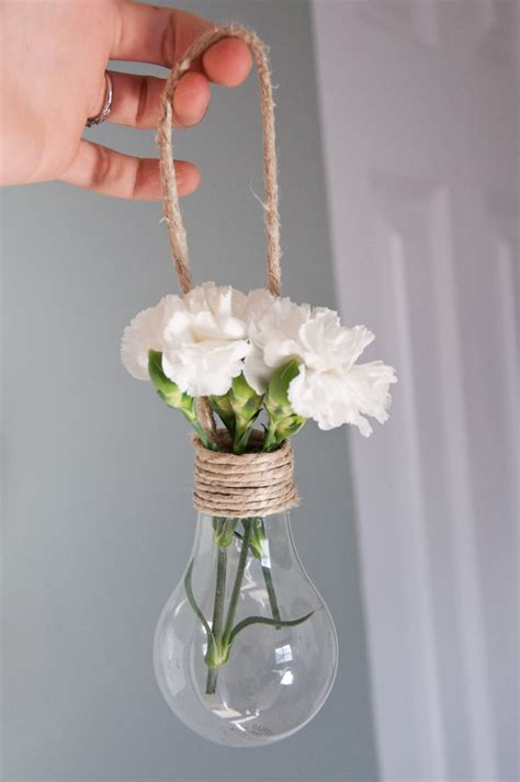 hanging light bulb vase decorations gift ideas