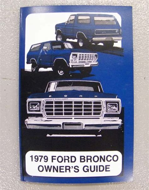how to download repair manuals 1984 ford bronco ii lane departure warning 1979 ford bronco owners manual broncograveyard com